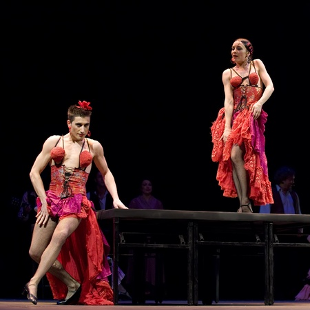 CHENGDU - DEC 28: The Best Flamenco Dance Drama Carmen performed by The Ballet Troupe of Spanish Rafael Aguilar at JINCHENG theater Dec 28, 2008 in Chengdu, China.The Ballet Teatro Espanol de Rafael Aguilar.