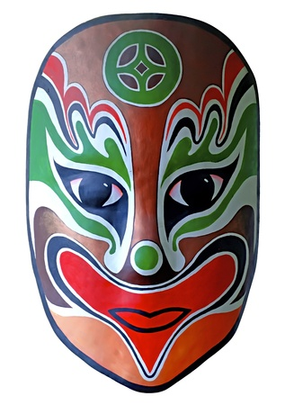 chinese opera: chinese traditional opera facial painting with white isolated background