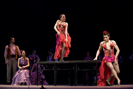 rafael aguilar: CHENGDU - DEC 28: The Best Flamenco Dance Drama Carmen performed by The Ballet Troupe of Spanish Rafael Aguilar at JINCHENG theater Dec 28, 2008 in Chengdu, China.The Ballet Teatro Espanol de Rafael Aguilar. Editorial