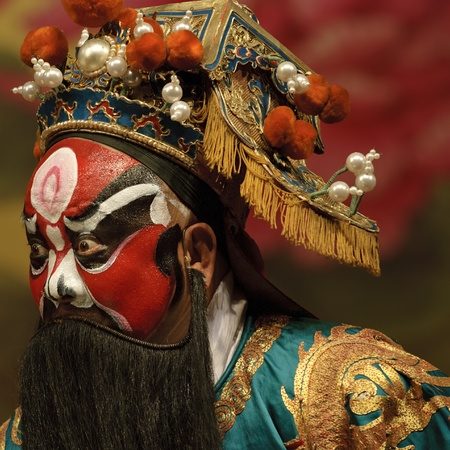 Chinese traditional opera actor Banque d'images