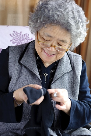sewing grandmother photo