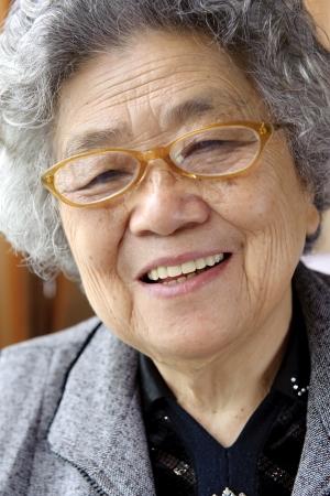 happy grandmother Banque d'images