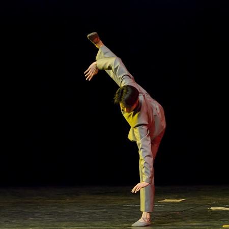 CHENGDU - DEC 15: professional modern dancer performs solo dance on stage at JINCHENG theater.Dec 15, 2007 in Chengdu, China. Choreographer: Xiao Xiangrong, Chang Xiaoni, Cast: Sun Rui