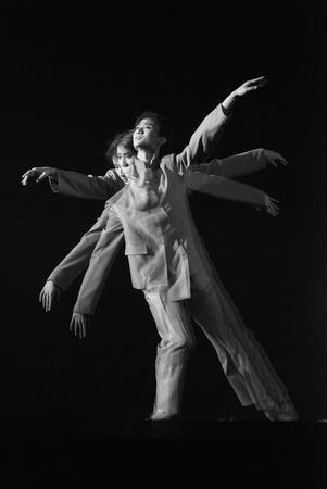 rui: CHENGDU - DEC 20: professional modern dancer performs solo dance on stage at JINCHENG theater.Dec 20, 2007 in Chengdu, China.Choreographer: Xiao Xiangrong, Chang Xiaoni, Cast: Sun Rui