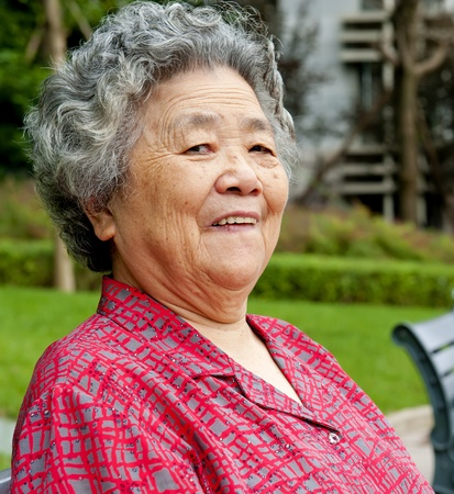 chinese woman: portrait of a happy grandmother