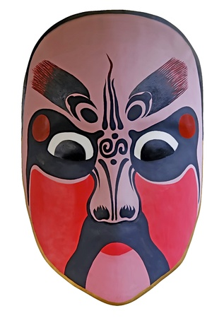 facial painting: chinese traditional opera facial painting with white isolated background