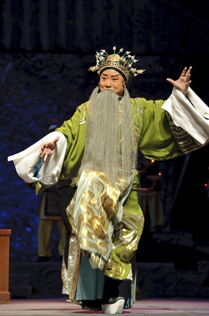 chinese opera: CHENGDU - JUN 1: chinese Beijing opera performer make a show on stage to compete for awards in 25th Chinese Drama Plum Blossom Award competition at Shengge theater.Jun 1, 2011 in Chengdu, China. Chinese Drama Plum Blossom Award is the highest theatrical a