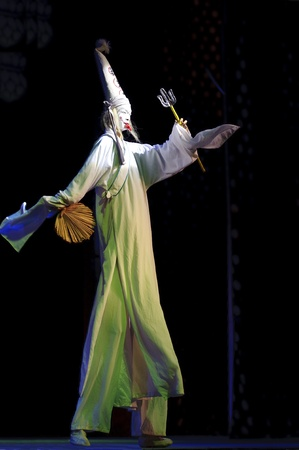 CHENGDU - JUN 6: Clown of Chinese traditional opera performance at Experimental theater.Jun 6, 2011 in Chengdu, China.