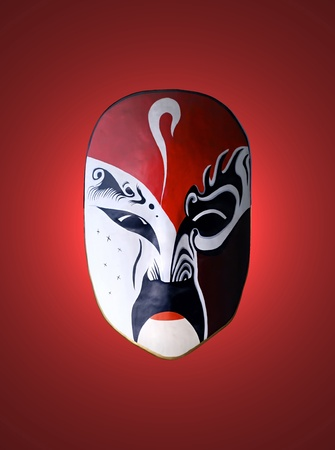 mask of opera with red isolated background photo