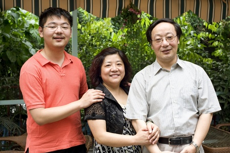 china family : parents and their son Stock Photo - 10506906