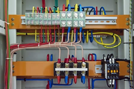 Electrical patch cables and socket photo