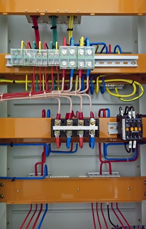 control centre: Electrical patch cables and socket