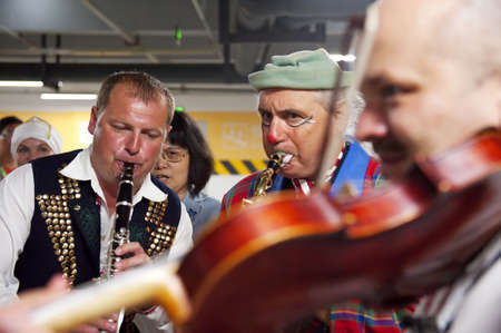 CHENGDU - MAY 29: Scottish folk musicians perform in the 3rd International Festival of the Intangible Cultural Heritage.May 29, 20011 in Chengdu, China. Stock Photo - 11128434
