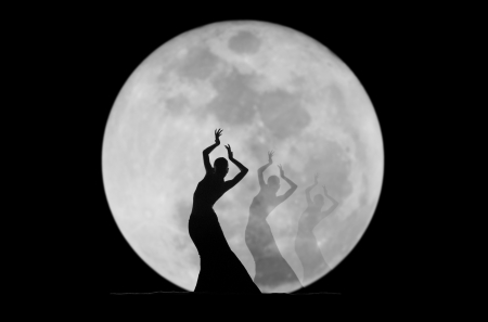graceful dancer silhouette photo