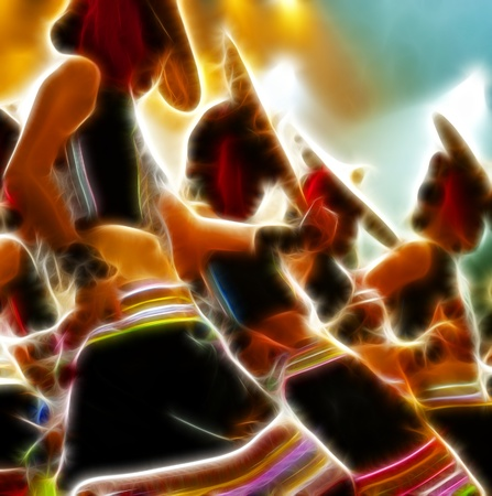 Abstract artistic picture of a modern dancer Banque d'images