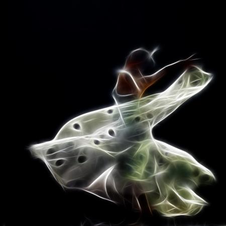 bailar�n: Cuadro abstracto art�stica de una bailarina de danza moderna Foto de archivo