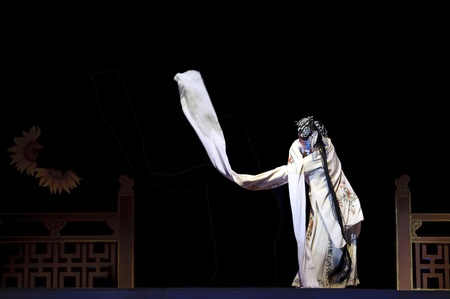 qi: CHENGDU - JUN 6: Mulian Drama of Chinese Qi opera performer make a show on stage to compete for awards in 25th Chinese Drama Plum Blossom Award competition at Experimental theater.Jun 6, 2011 in Chengdu, China. Editorial