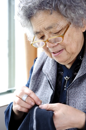 sewing grandmother