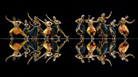 CHENGDU - OCT 24: Indian dancers perform folk dance onstage at JINCHENG theater during the festival of India in china on Oct 24,2010 in Chengdu, China. Stock Photo - 12143247