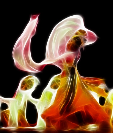 abstract artistic picture of dancer photo
