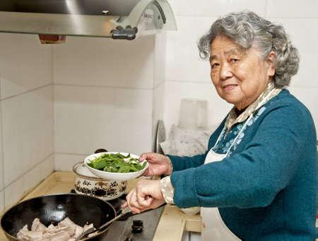 cooking grandmother Stock Photo - 12876398