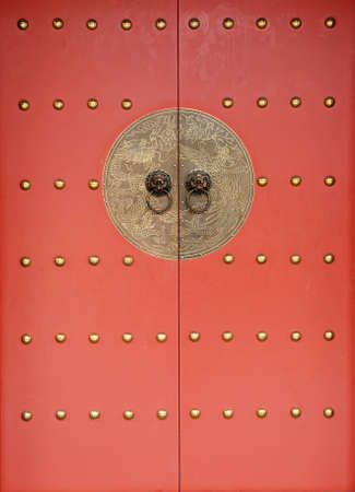 chinese traditional red door photo