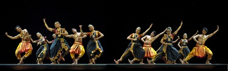 CHENGDU - OCT 24: Indian dancers perform folk dance onstage at JINCHENG theater during the festival of India in china on Oct 24,2010 in Chengdu, China. Stock Photo - 12679454