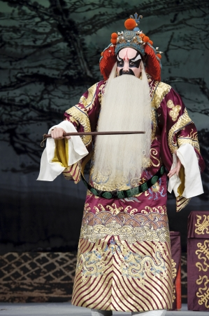 exaggerate: chinese traditional opera actor with theatrical costume