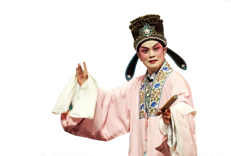 chinese traditional opera actor with theatrical costume  photo
