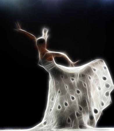 ballet ni�as: cuadro abstracto art�stica de una bailarina de danza moderna Foto de archivo