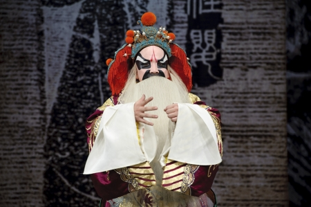 exaggerate: chinese traditional opera actor with theatrical costume Stock Photo