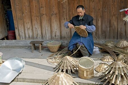 handwork: man and traditional handwork
