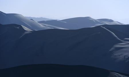 backlighting: backlighting sand dunes Stock Photo