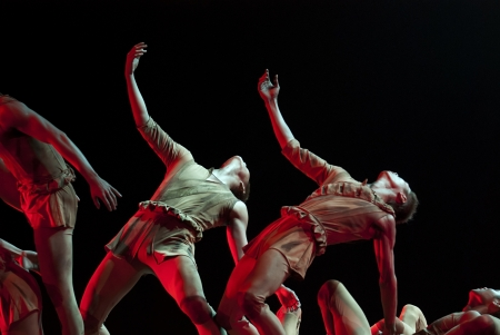 CHENGDU - DEC 10: modern Group dance show performed by Zhejiang Song and Dance Theater at JINCHENG theater in the 7th national dance competition of china on Dec 10,2007 in Chengdu, China.