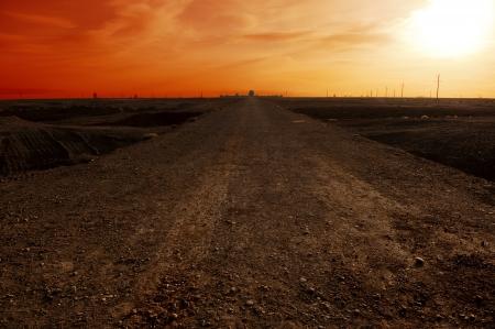Sunrise of the Jiayuguan Pass in the Gobi Desert Stock Photo - 17454602