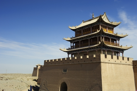 jiayuguan: Jiayuguan Pass Tower in GanSu,China