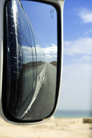 rearview: Scenery in the Auto rearview mirror