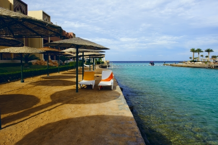 hurghada: resort in beach in Hurghada Editorial