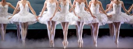 benen van de ballerina Stockfoto