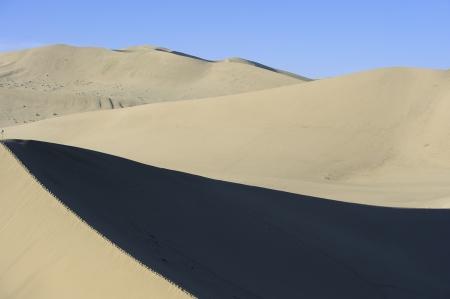 inhospitable: The sand dunes on desert Stock Photo