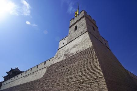 jiayuguan pass tower: grand Jiayuguan Pass Tower in GanSu,China
