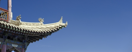 ancient relics: details of Jiayuguan Pass Tower in GanSu,China