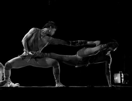 CHENGDU - DEC 10: modern Group dance show performed by Zhejiang Song and Dance Theater at JINCHENG theater.Dec 10,2007 in Chengdu, China. Choreographer: Zhu Ping, Huang Yichuan, actor: 20