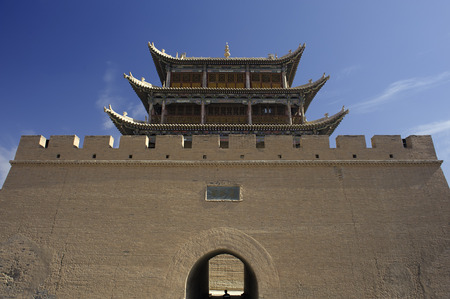ancient relics: Jiayuguan Pass Tower in GanSu,China