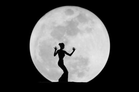 danseres silhouet: sierlijke danserssilhouet