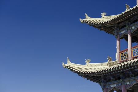 jiayuguan pass tower: details of Jiayuguan Pass Tower in GanSu,China