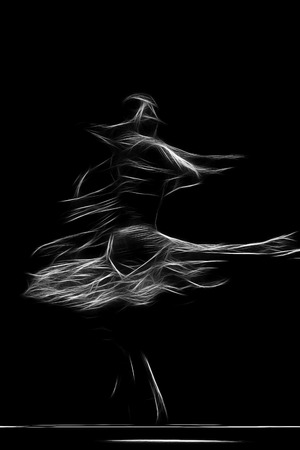 abstract artistic picture of flamenco dancer Banque d'images
