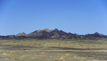 inhospitable: hills in the Gobi Desert Stock Photo