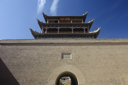 unique characteristics: Jiayuguan Pass Tower in GanSu,China