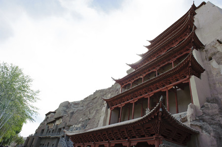 ancient relics: The architecture of Mogao Grottoes in Dunhuang,China
